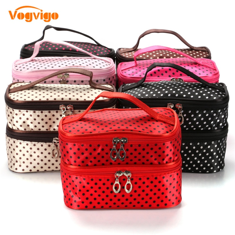 Vogvigo Layer Cosmetic Storage Bag Travel Makeup Case Women String Make Up Bath Organizer Storage Pouch Toiletry Wash Beaut Kit