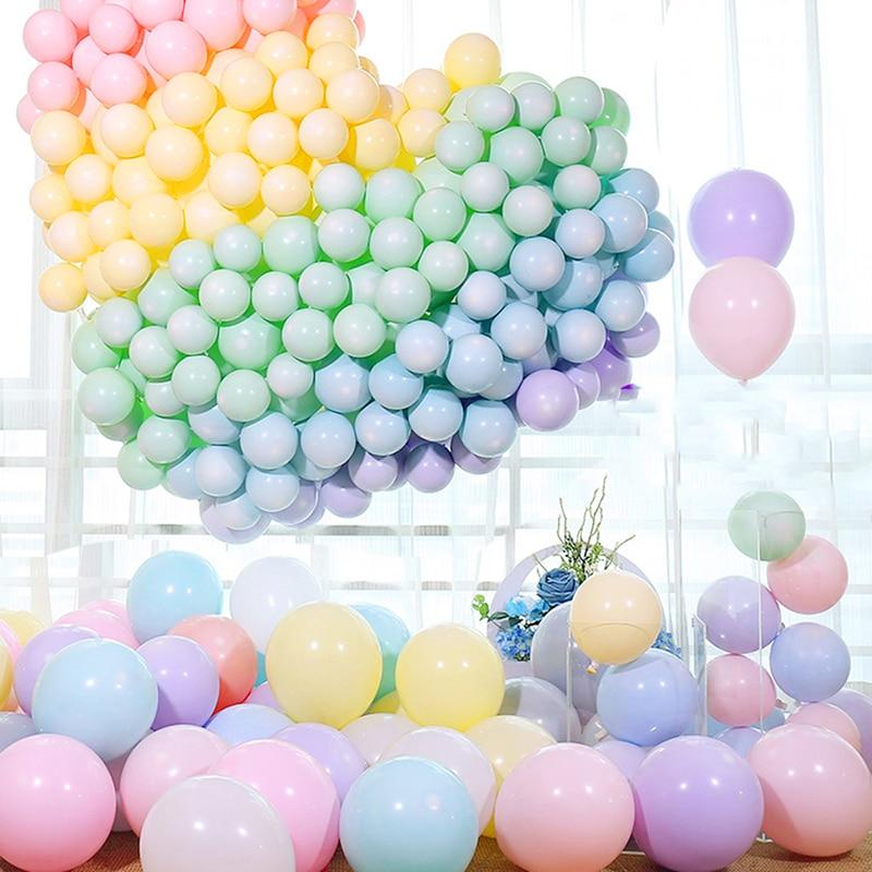 30Pcs 5/10/12 zoll Macaron Latex Luftballons Pastell Candy Ballon Hochzeit Geburtstag Party Dekoration Baby Dusche decor Luft Globos