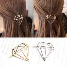 Minimaliste Geo Dia Triangle cercle lune lèvre épingle à cheveux Clip bijoux accessoires de mariage Style bohème accessoires de cheveux pour les femmes