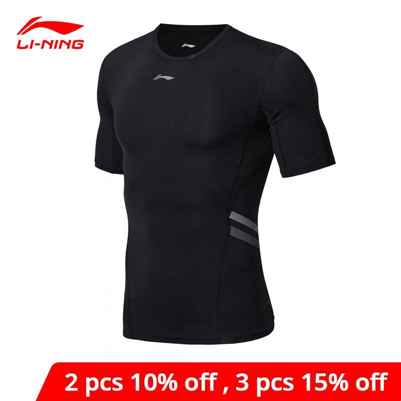 Li-Ning Men Training Series Tights Base Layer Breathable Tee Tight Fit LiNing li ning Comfort Sports T-Shirts AUDN093 MTS2864