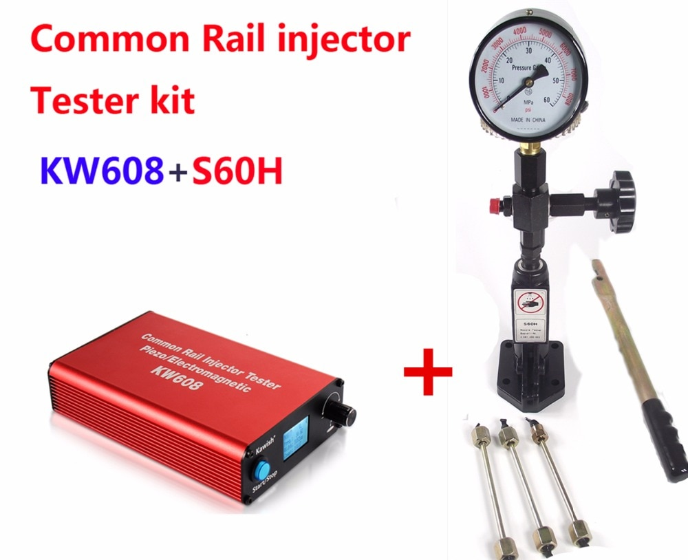 Common rail injector tester Kit  KW608 multifunction diesel USB Injector tester + S60H Common Rail Injector Nozzle tester