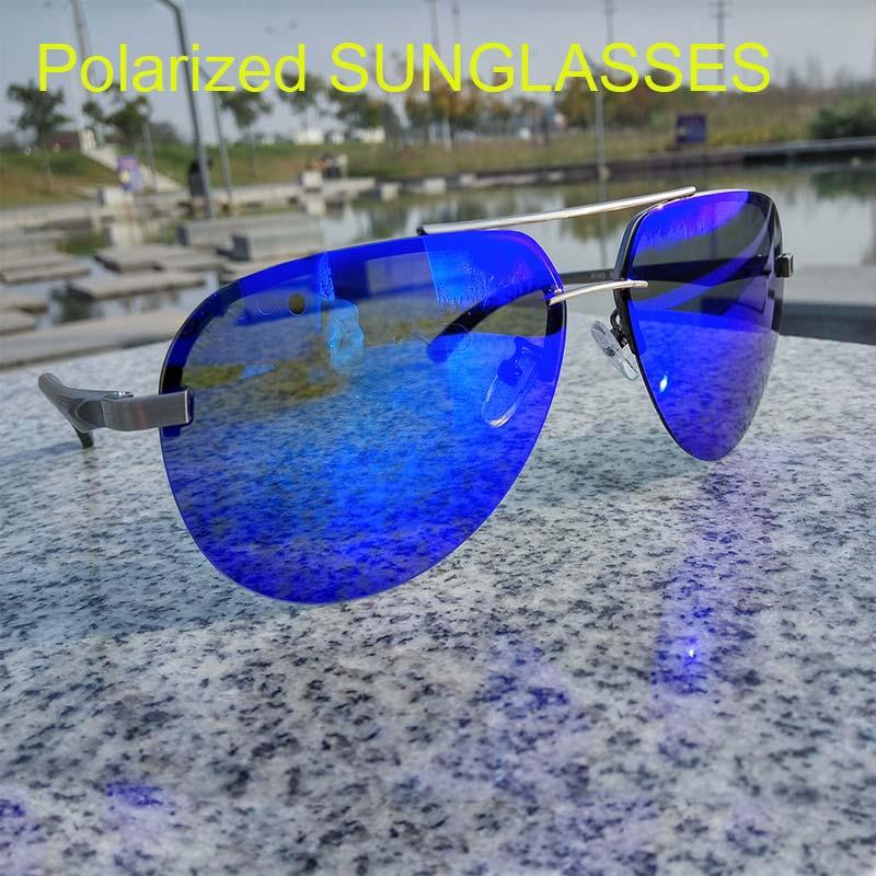 Reggaeon-lunettes de soleil polarisées hommes   En alliage de magnésium, cadre en aluminium, lunettes de conduite décontracté, femmes Semi cadre m ongles uv400, nouvelle collection 2020