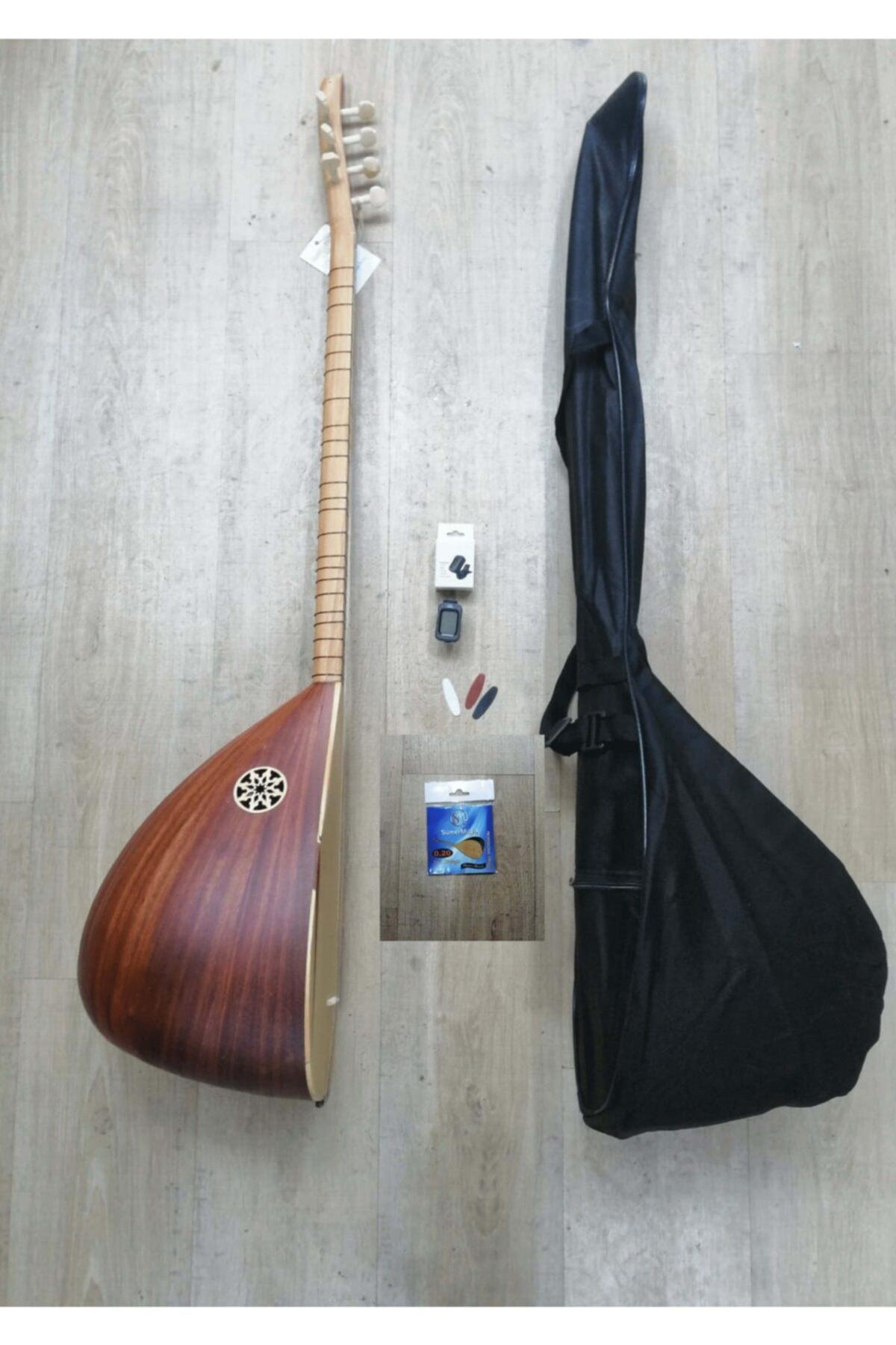 جراب مقاوم للماء من خشب الماهوجني التركي ، أوتار Tezene (مجموعة كاملة) ، آلة جيتار تركية تقليدية ، وترية