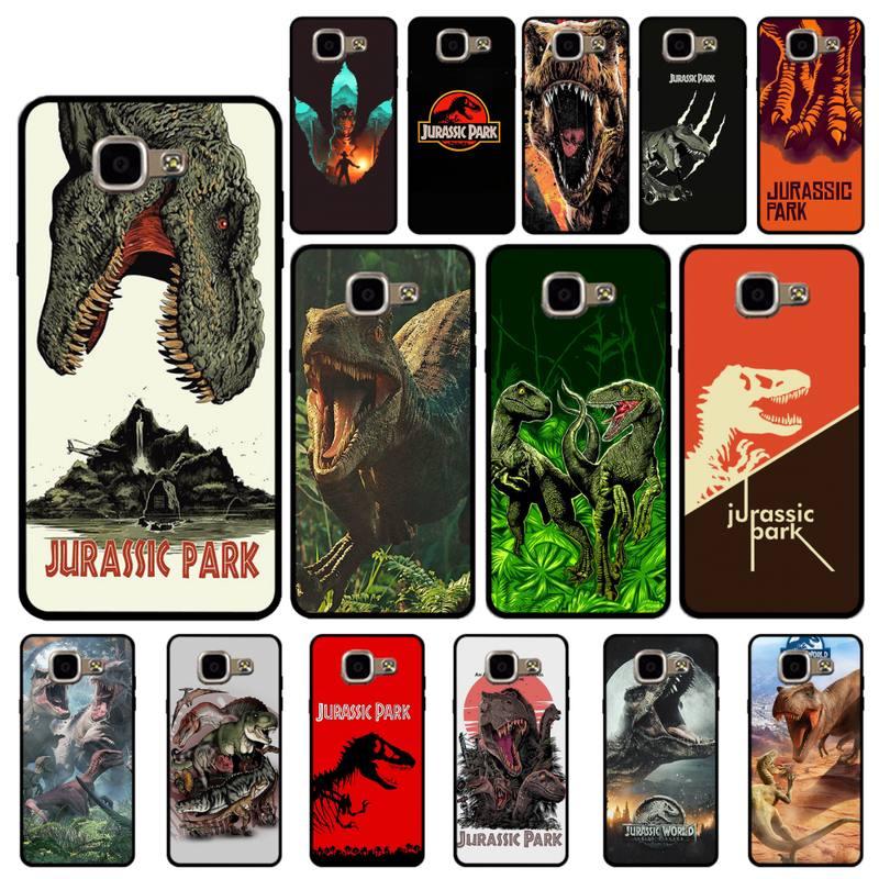 YNDFCNB Jurassic Park Dinosaur Jurassic World Phone Case for Samsung A6 A8 Plus A7 A9 A20 A20S A30 A
