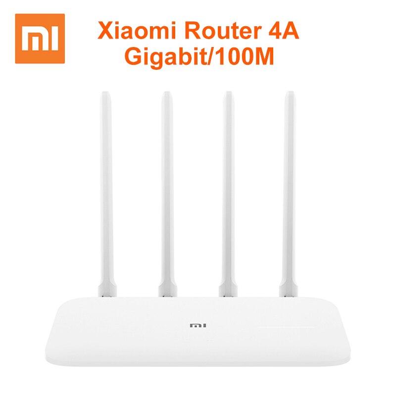 Xiaomi roteador 4a gigabit edição 100 m 1000 m 2.4 ghz 5 ghz wifi rom 16 mb ddr3 64 mb 128 mb alto ganho 4 antenas controle remoto mi app
