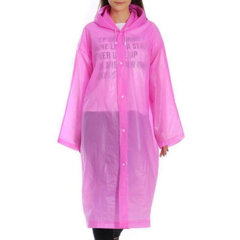 NEW 1pc Disposable Raincoat for Adults Unisex Thicken Rain Coat Waterproof Hooded Cover Rainwear Dustproof