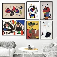 joan miro modern surrealism art paintings abstract picture retro art canvas painting poster wall home decor %d0%ba%d0%b0%d1%80%d1%82%d0%b8%d0%bd%d1%8b %d0%bd%d0%b0 %d1%81%d1%82%d0%b5%d0%bd%d1%83