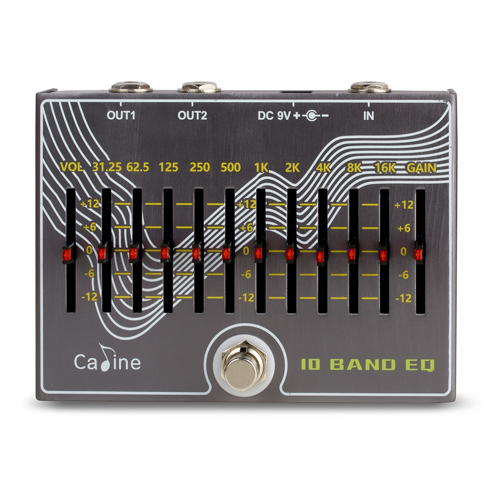 Caline Cp-81 Eq Guitar Pedal Overdrive Guitar Parts Guitar Effect Pedal True Bypass Design with Volum Gain for Electric Guitar enlarge