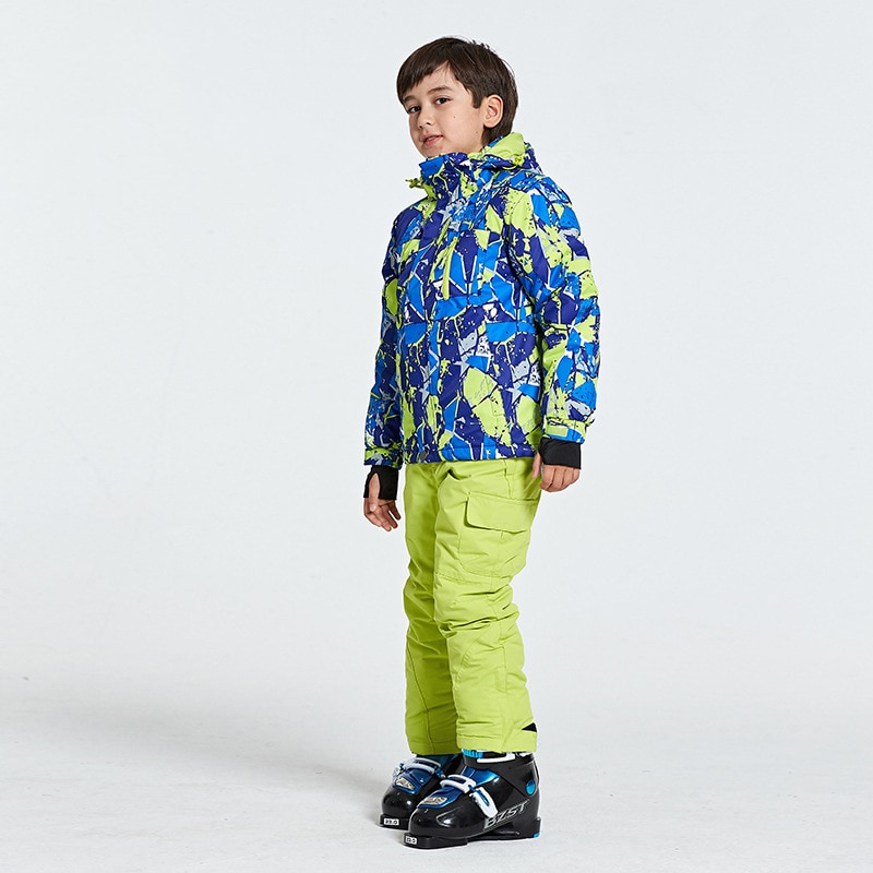 2021 New Ski Suit Kids Winter  Snowboard Clothes Warm Waterproof Outdoor Snow Jackets + Pants for Girls and Boys Brand