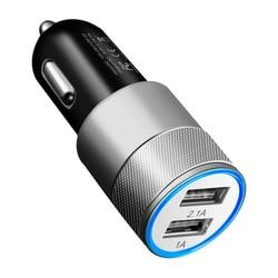 Mini usb carregador de carro para o telefone móvel tablet gps 3.1a carregador rápido carro-carregador duplo usb carregador de telefone de carro adaptador no carro