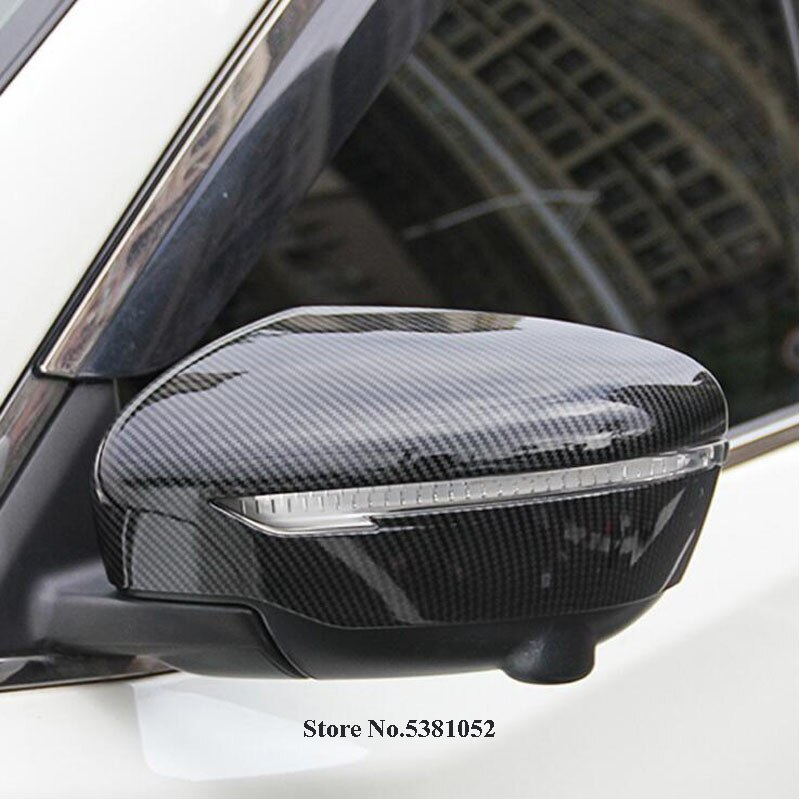 Carbon Fiber Car Side Door Rear View Mirror Cover Trim Scuff Plate For Nissan JUKE 2015 2016 2017 2018 Accessories Car Styling