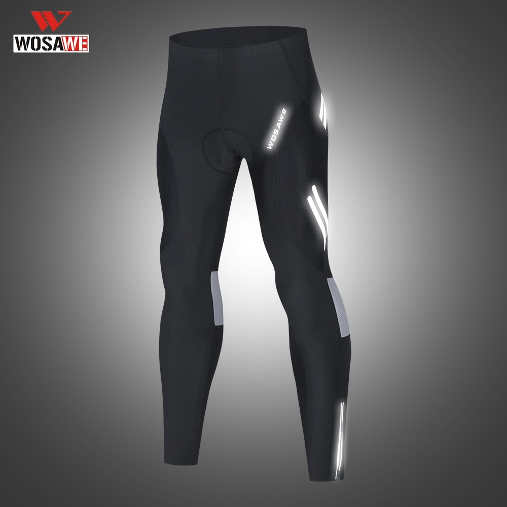 WOSAWE Riding Motocycle Shockproof Pants Cycling Men Summer Bicycle Trouser Reflective Anti-slip Outdoor Sports Pants Gel Pad