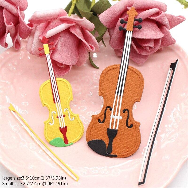 KLJUYP violín Metal troqueles para álbum de recortes decoración con papel artesanía troqueles para álbum de recortes ing