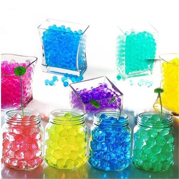 100 pçs planta bonsai solo colorido cristal planta flor jelly lama contas de água para plantas pérolas vaso solo gel bolas brinquedos