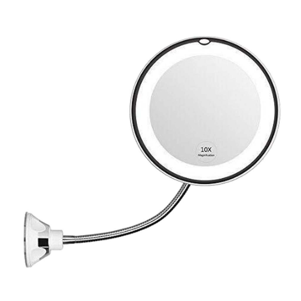 10X Magnifying Makeup Mirror Bathroom Hotel Salon SPA Wall Suction Vanity Mirror