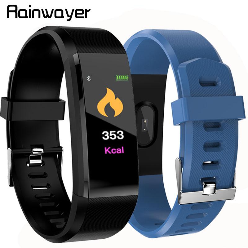 115 Plus Smart Wristband Blood Pressure Watch Fitness Tracker Heart Rate Monitor Band Smart Activity Tracker Bracelet A2