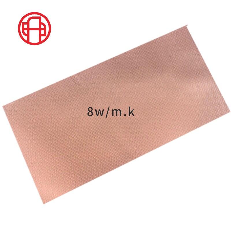 Теплопроводность 0,5 мм, толщина 8,0 Вт, охлаждающий зазор, наполнитель для компьютерного процессора, чипа и жесткого диска