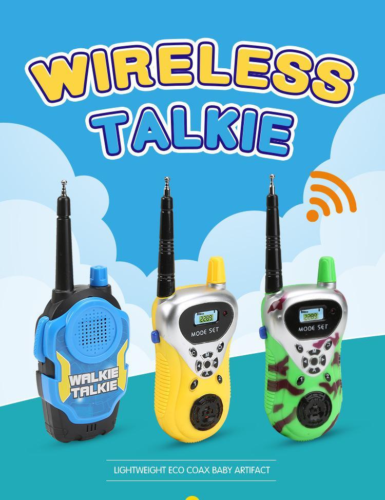 Juguete walkie-talkie eléctrico de llamada inalámbrica a control remoto para niños