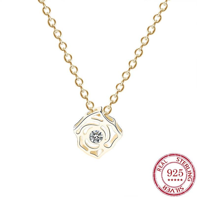Collar de plata de ley S925 con colgante de flores de zirconia con diseño de diosa del temperamento, regalo para mujer, Envío Gratis