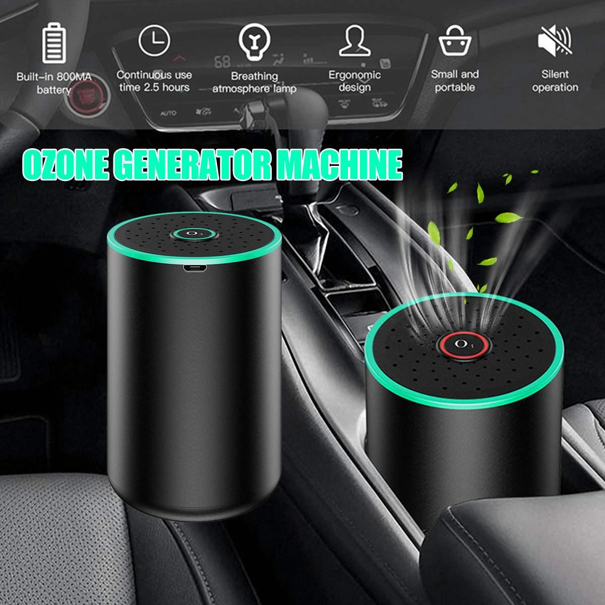800mA USB Ozone Generator Ozone Disinfection Machine Home Car Air Purifier 50mg/h Auto Air Freshener