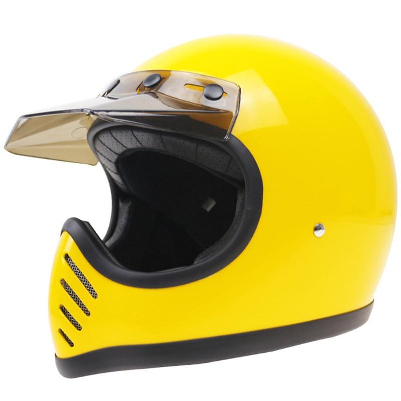 كوريا نمط Moto-3 الألياف الزجاجية خوذات الدرجات البخارية TT & CO كامل الوجه خفيفة الوزن دراجة عادية المروحية الدراجة نمط خمر الخوذات DOT
