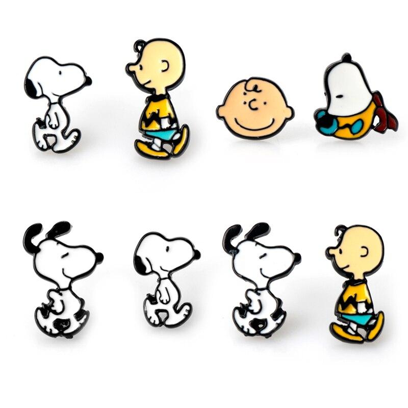 Neue Ankunft Emaille Cartoon Hund Für Frauen Schmuck Mode Nette Kinder Geschenk