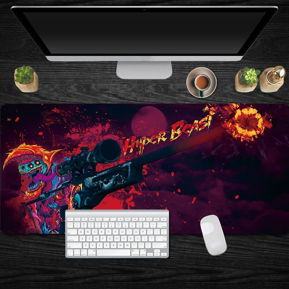 CS GO Mouse Pad 90x40cm Pad To Mouse Notbook Computer Mousepad Hyper Beast XXL Locked Edge Gaming Mo