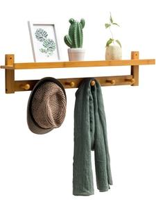 Wall-mounted coat rack wall racks bedroom hooks door hangers clothes rack storage consolidation