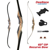 60 inches archery one piece recurve bow traditional hunting bow op bow for 3d hunting 30lbs 35lbs 40lbs left hand lh