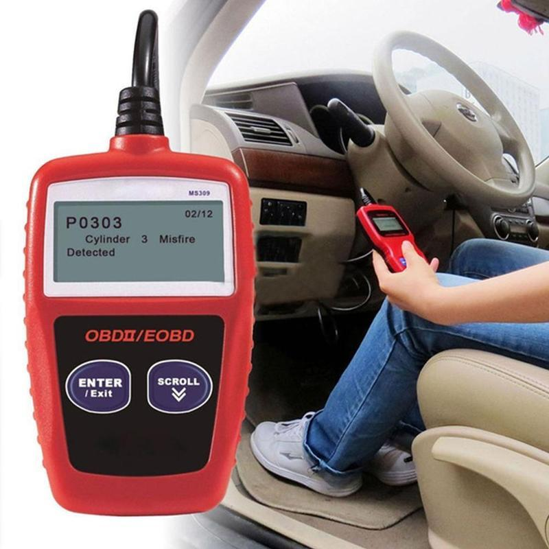 Сканер MS309 OBD2, многоязычный Автомобильный сканер, диагностический инструмент для двигателя ODB 2 EOBD MS309, диагностический сканер для обнаружен...