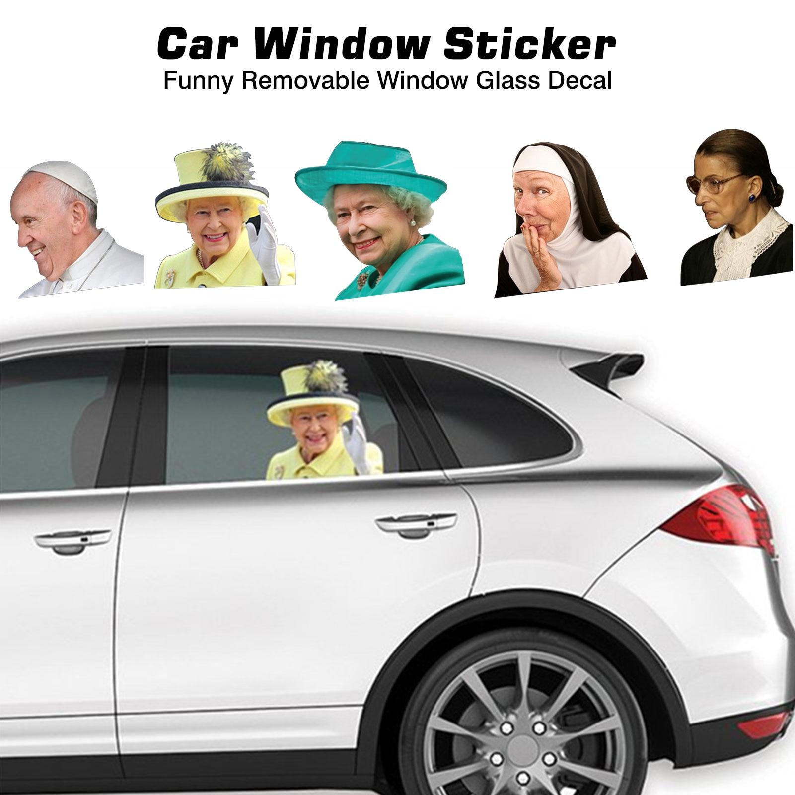 Наклейки на автомобильные окна знаменитостей, забавные Съемные Наклейки на окна