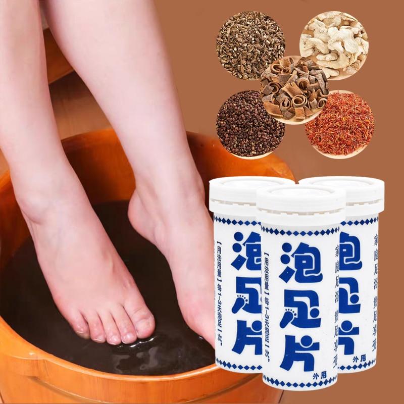 6 pc/Flasche Pilz Nagel Behandlung Detox Fuß Tränken Lange-Term Relief Fußpilz Haut Rissbildung Psoriasis peeling Fuß Pflege Creme