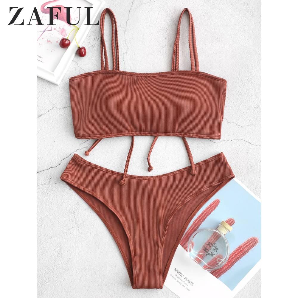 Zaful crisscross com nervuras biquíni maiô snakeskin voltar rendas até bikini blueberry azul cintura natural removível acolchoado conjuntos de biquíni