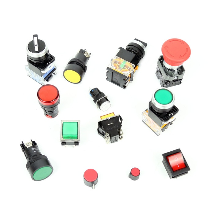 BateRpak Red/Yellow/Green button Semi automatic strapping machine parts,bundling machine switch button parts,1pcs price baterpak packway dsi semi automatic strapping machine heat transformer bundling machine control transformer 220v 1pcs price