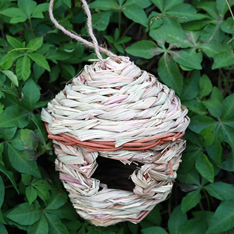 New Birdcage Accessories Decorative Birdcage Parrot Hand-Woven Hanging Birdhouse Small Castle