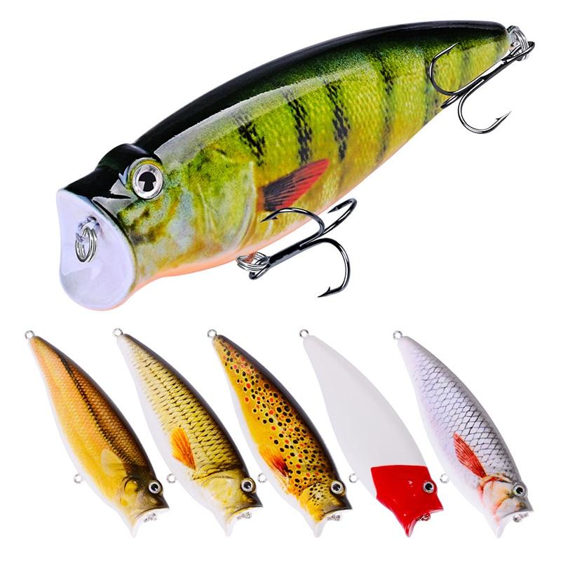1 Uds señuelo Popper para pesca 9,5 cm/17g Swimbait cebo duro Artificial Wobblers Topwater Leurre Peche aparejos de pesca con 4 # ganchos