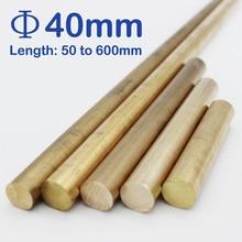 Diameter 40mm, Length 50mm to 600mm brass round bars/rods