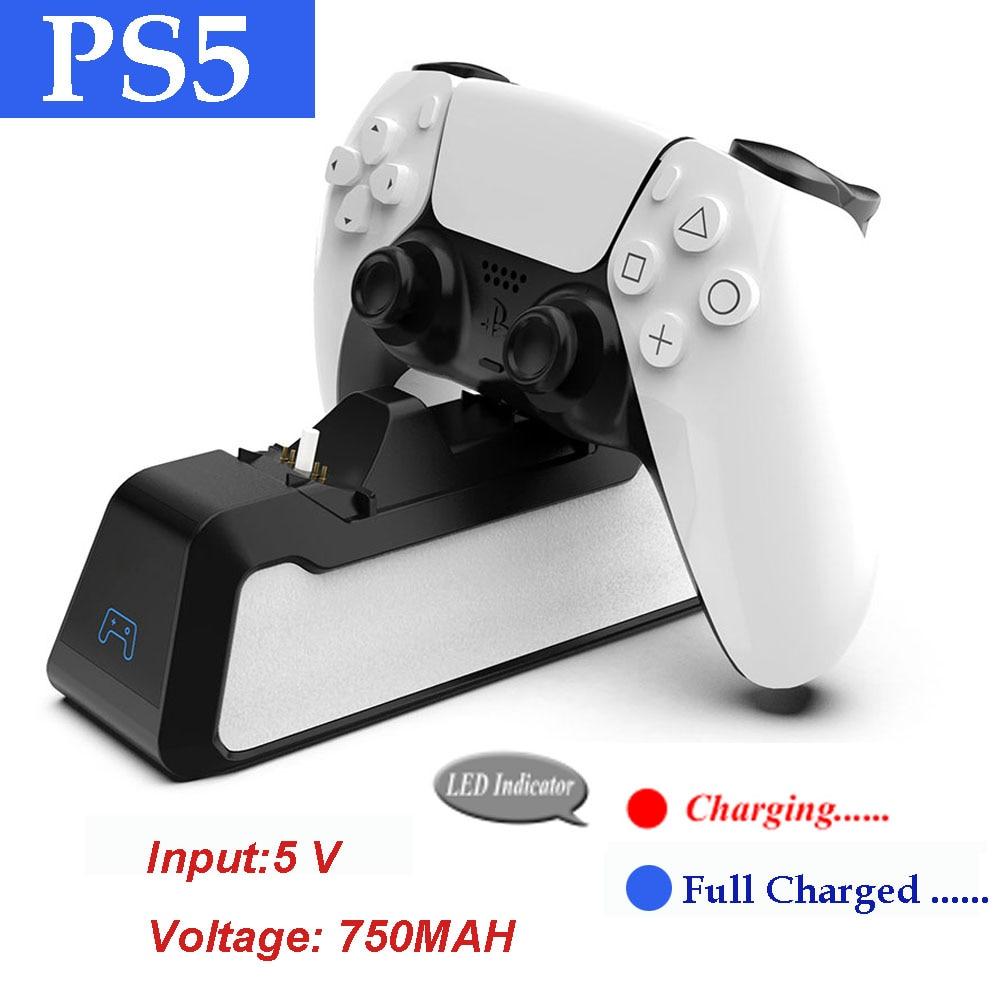 PS5 Dual Usb ручка Быстрая зарядка 5V 720 мА · ч зарядный док-станция Подставка Зарядное устройство для Play Station 5 PS5 игровой контроллер джойстика
