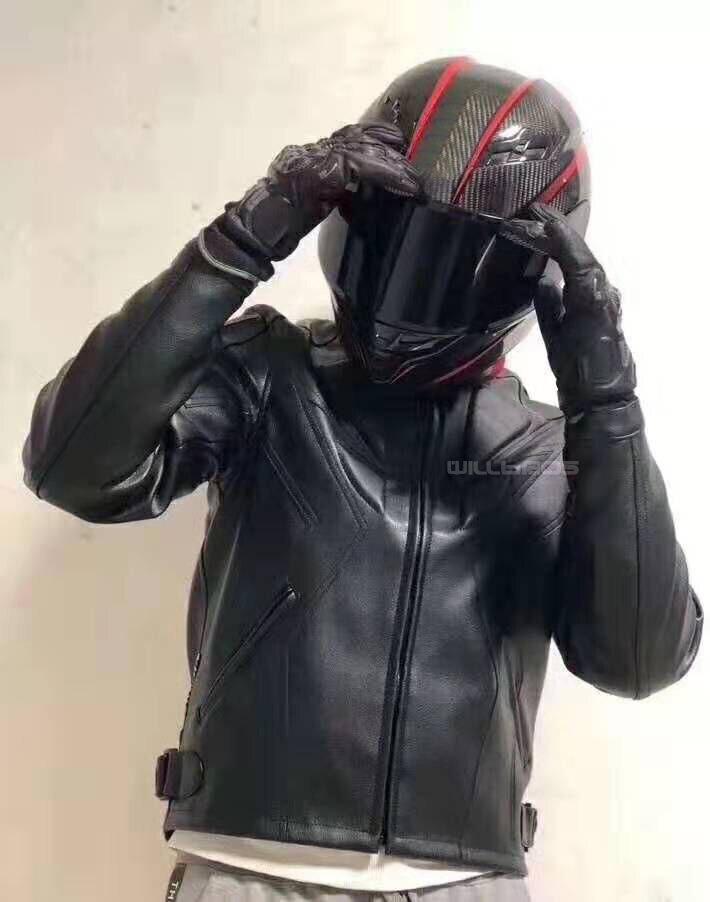 Dain motocicleta mtb bicicleta fora de estrada moto rua moto equitação jaqueta de couro com protetor