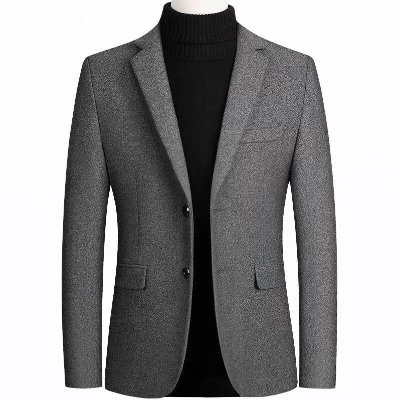 Новый Блейзер Мужской пиджак модный мужской костюм шерстяной пиджак приталенный шерстяной пиджак мужской деловой Повседневный пиджак