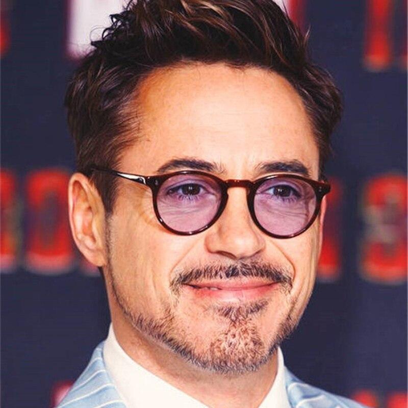 Gafas de ordenador Feishini Tony Stark rayos radiación Gamin gafas de plástico Unisex gafas de protección contra luz azul Optical Oval para mujer