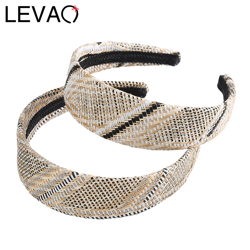 LEVAO hueco trenzado diadema personalizado pelo banda bisel turbante para mujer accesorios niñas accesorios Aro para la cabeza pelo joyería