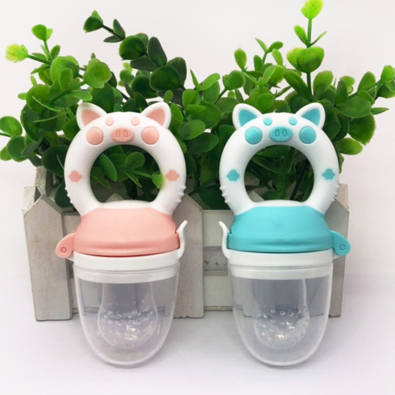 1Pcs Baby Nipple Fresh Food Grade Silicone Baby Pacifiers Feeder Cartoon Pig Pattern Nipple Teat Pacifier Feeding Infant Supplie
