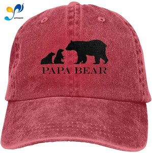 Papa Bear Commemorate Casquette Cap Vintage Adjustable Unisex Baseball Hat