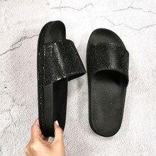 2020 sommer Diamant Frauen Hausschuhe Mode Lässig Damen Flip-Flops Anti-slip Bling Strass Schuhe Frau Große Größe 36-41