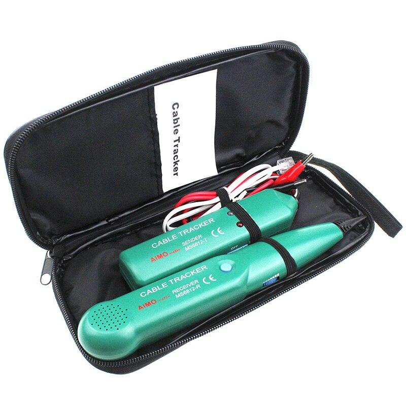 Nworld Professional MS6812 Cable de seguimiento de Cable de teléfono para UTP STP Cat5 Cat5E Cat6 Cat6E RJ45 RJ11 LAN herramientas de prueba de red