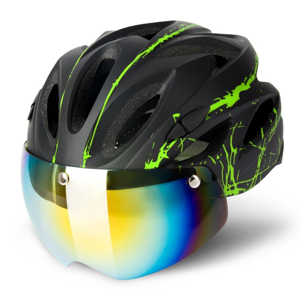 HelmetRoad-gafas Led con visera extraíble para bicicleta de montaña, Casco para ciclismo,...