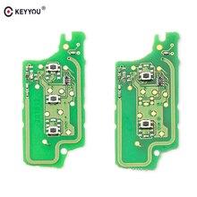 KEYYOU-carte de Circuit électronique   Télécommande de voiture FSK/ASK pour Peugeot 307 408 308 pour Citroen C2 C4 C5 Ce0536 2/3 boutons