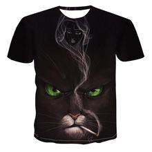 Newest Animal 3d Printed T -Shirt Casual Short Sleeve O -Neck Fashion Printed 3d T Shirt Men /Women