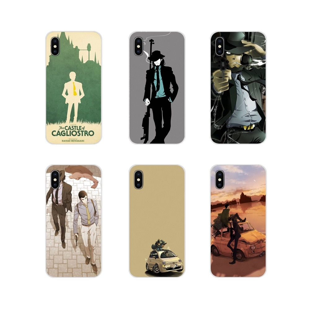 Аксессуары чехлы для телефонов Apple ipod touch 5 6 iPhone X XR XS 11Pro MAX 4S 5C SE 6S 7 8 Plus Lupin Iii Design